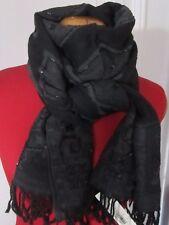 écharpe rectangulaire GERARD DAREL noir/anthracite sequins