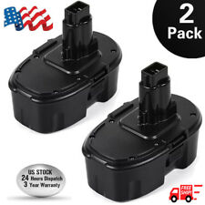 2XFOR DeWALT DC9096-2 18Volt XRP Ni-Cd DC9099 DC9098 Cordless Power Tool Battery