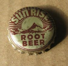 SUN RISE   ROOT BEER CORK BOTTLE CAP  TOPEKA KANSAS COCA COLA BOTT