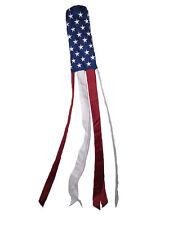 "60"" Embroidered U.S. USA American Flag WindSock 100% Polyester Windsock U.S.A."