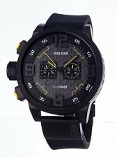 Welder Men's 10000 K31 Chronograph Black Ion-Plated Stainless Steel Round Watch
