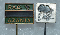 PAC Azania Pan Africanist Congress South Africa ANC vintage political pin badges