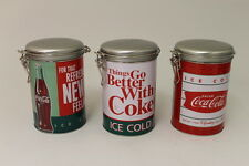 COCA COLA COKE 3PC TIN RETRO Things Go Better With Coke CANISTER SET  NEW!!
