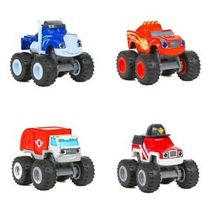 Blaze and the Monster Machines Die Cast & Plastic Truck Lot of 4