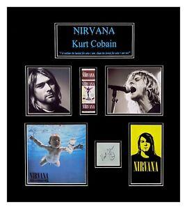Kurt Cobain Original Autograph Matted and Framed Ready to Hang