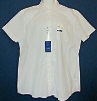 New APT.  Men's XL HEQ Smart Temp Col Dry Comfortable White Short Sleeve Shirt