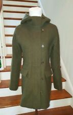 J CREW Womens Army Green Wool Duffle Hooded Coat Jacket Sz 2