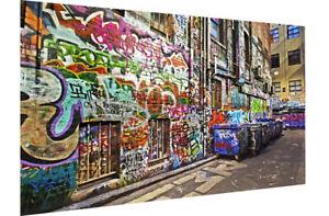 graffiti street art lane alley bins print poster canvas