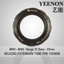 【YEENON】M42 to M42 x 17.3mm Focusing Helicoid Macro Extension Tube