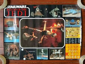 Original 1983 Star Wars Return of the Jedi Print Poster (Toy + Hobby Toy Shop)