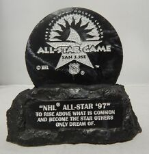 "NHL All Star Game 1997 Rock Hockey Puck ""San Jose California"" Rise Above Puck"