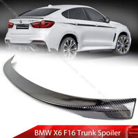 Unpainted For BMW F16 F86 X6 Sport P Style xDrive35i M50d Wing Trunk Spoiler