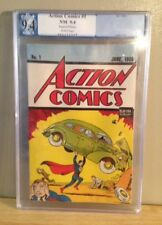 Action Comics #1 Reprint Superman 1992 PGX 9.4 White Pages Near Mint White DC