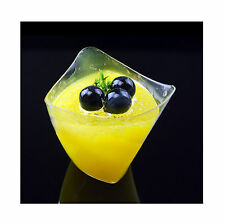 100 Triangle Hard Plastic Tumblers Disposable Wine Cups Dessert Cake Cup Bar