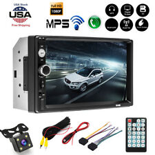 2DIN 7in HD Car Stereo Radio MP5 Player Bluetooth Touch Screen With Rear Camera