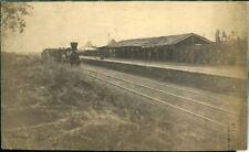 Burma Railway Station on a big photo approx 1900 original
