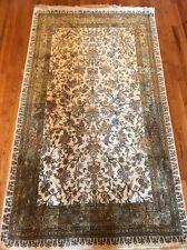 Kashmir Rug Silk On Silk rare Carpet