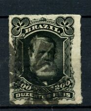 Brazil 1878-9 SG#62 200R Emperor Pedro II Rouletted Used #A22856