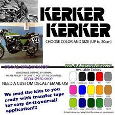 Kerker Exhaust Logo Old School KZ1000 Eddie Lawson ZRX Pair of Decals
