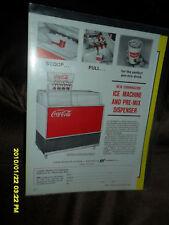 1960's COCA-COLA ICE MACHINE PRE-MIX DISPENSER AD *** RARE***