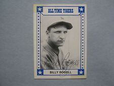 """BILLY ROGELL Tigers Signed 1980  """"All Time Tigers""""  TCMA Card(Died in 2003)"""