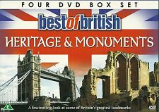 Best Of British Monuments And Heritage 4 DVD GIFT BOX SET Great landmarks