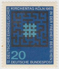 (G575)1965GERMAN20pf black&turquoise GermanChurchow1402