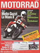 Motorrad 10 79 BMW R65 Guzzi V50II 850 Le Mans CX500GL 1000 K3 Indian MF22 1979