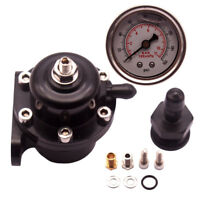 Black Fuel Pressure Regulator FPR For Civic Integra Del Sol B16A B18C D16 B20