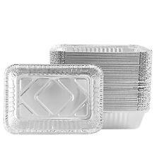 Party Bargains Premium Quality Disposable Aluminum Foil Pans 2 Lb Cap - 50 Count