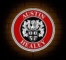 AUSTIN HEALEY BADGE SIGN LED LIGHT BOX MAN CAVE GARAGE WORKSHOP GAMES ROOM GIFT