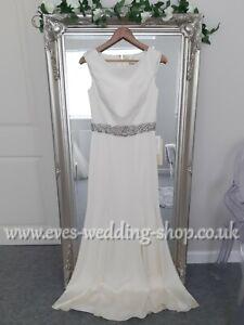 Manon designer dark ivory wedding dress UK 10- check measurements
