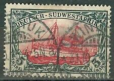 1906 German South West Africa 5 Mark Yacht used, Michel # 32 Aa -WINDHUK- € 370.