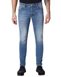 Diesel Herren Slim Skinny Fit Stretch Jeans Hell Mittel Blau Sleenker 084RV
