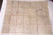 1895 LARGE ANTIQUE FOLDOUT CLOTH BACKED MAP DUSSELDORF REV VON W LIEBENOW