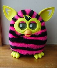 Furby Boom! Straight Pink and Black Stripes Electronic Pet - 2012 Generation