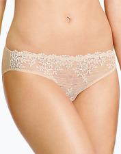 Wacoal Womens Embrace Lace Bikini Knicker Pant Sand Nude Small 8 10