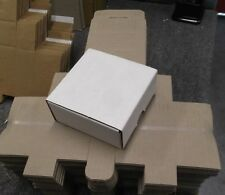 4x4x2 WHITE CORRUGATED Fold Together Shipping Packing Boxes Mailers lot of 50