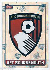2015 / 2016 EPL Match Attax Base Card (1) AFC BOURNEMOUTH Logo Card