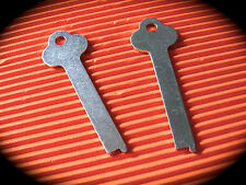 Long Flat Locker Style Keyblank Pair, Key Blank- Coin Operated,Penny Arcade.