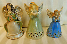 New ListingSet of 3 Pottery Angel Bells