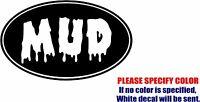 "MUD Oval JDM Funny Vinyl Decal Sticker Car Window Bumper Laptop Tablet 7"""