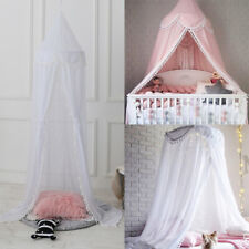 Infant Baby Ruffle Canopy Mosquito Kids Net Princess Dome Bedding Play Tent