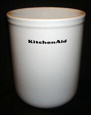 KitchenAid White Porcelain Kitchen Countertop Spoon Utensil Holder Crock Caddy