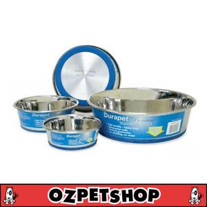 Durapet Stainless Steel Dog Bowl - Pet Bowl - 4 Sizes