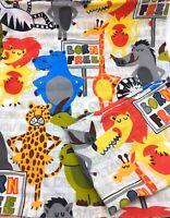 Jungle Safari Animal Cot Quilt Cover & Pillow Case Nursery Lion Tiger Giraffe