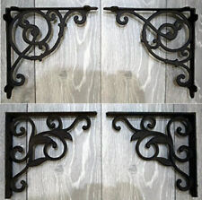 Pair Of Cast Iron Wall Brackets Shelf Rustic Vintage Victorian Antique Ornate