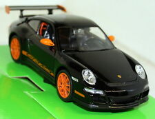 NEX Models 1/24 Scale 22495 Porsche 911 997 Gt3 RS Black Orang Diecast Model Car