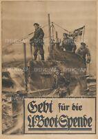 U-boat German Submarine Propaganda Poster Print WW1 WWI Navy flag submariner war