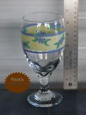 Pfaltzgraff SUMMER BREEZE Pedestal Iced Tea Glass 12 Ounce 7 Inch Tall MINT!